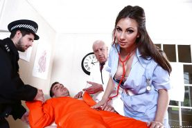Hot nurse with an outstanding asshole Connie Carter fucked in her uniform