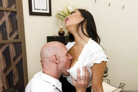 Sexy asian office babe Asa Akira gets her love holes drilled hardcore