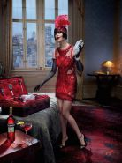 Eva Green busty and leggy wearing various red outfit for Campari Calendar 2015 p