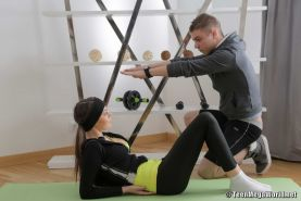 Flexible Teen With Tails Seduced In A Gym