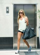 Ashley Tisdale walking and exposing her sexy body and hot legs