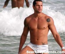 Hunks love being at the beach and showing their great bodies
