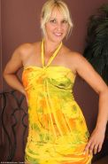 Hot horny amateur wife in a yellow dress