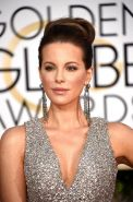 Kate Beckinsale showing huge cleavage at the Golden Globe Awards and The Weinste