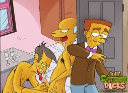 The Simpsons love cock - Famous gay toon studs