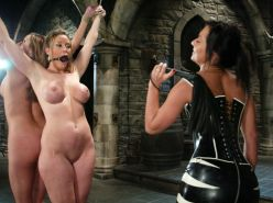 Extreme Slave Bondage Busty Babes Tied And Whipped By Mistress