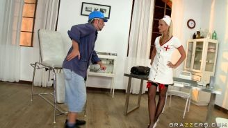 Busty nurse Marry Queen takes care of her patient