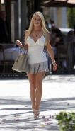 Heidi Montag showing her hot body and sexy legs in mini skirt