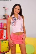 Russian teen cutie Nataly Gold drilled anally in MMF group action