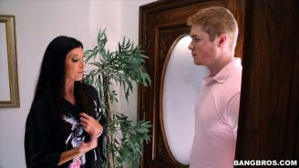 Teen Kacy Lane and stepmother India Summer in a hot FFM threesome