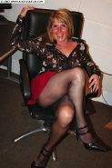 Amateur exhibitionist lady Angelique in pantyhose