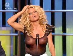 Pamela Anderson exposing her sexy body and fucking huge boobs