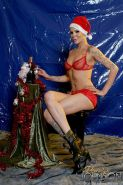 Bald Shemale Blondie Johnson is a hot nude Santa
