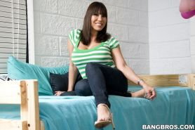 Ava Devine using only her milf feet on a cock