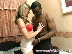 White wife gets all holes black stuffed