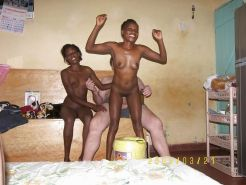 white men have a fun with thee african babes