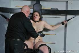 Tit whipping to tears and bizarre dungeon bdsm of Isabel