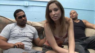 Nasty babe anal and dp in a interracial gangbang sex