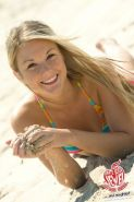 Skinny eighteen year old Private School Jewel strips on beach
