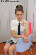 Young Abelinda passes her first anal exam in classroom