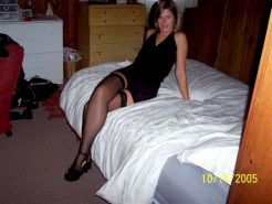 Amateur babe in nylons