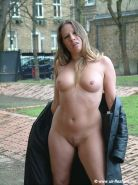 Faye Ramptons public nudity of uk milf pornstars in outdoor striptease