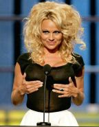 Celebrity Pamela Anderson touching her wet pussy