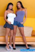 Jasmine Black and Mandy Bright in hot lesbian actions
