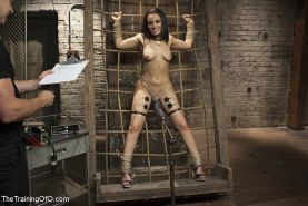 Gabriella Paltrova is bound for anal bdsm sex training and toyed for orgasm by O