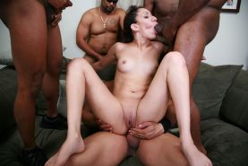 Small tits ebony bdsm gangbang orgy sex and facial bukkake #69144497
