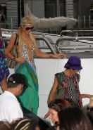 Paris Hilton showing her hot ass in deep cut swimsuit at the yacht in Sydney Har