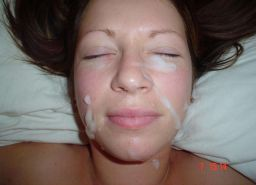 Real amateur girlfriends taking cum facials