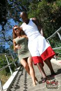 Busty redhead Janet Mason gets drilled by her hung black man
