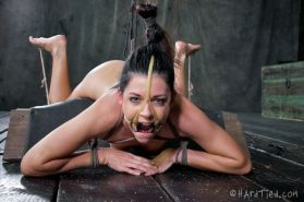 India Summer is rope bound to a vibrator her back spanked