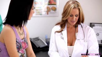 Doctor Julia Ann and Sandra Luberc use their creamy pussies and