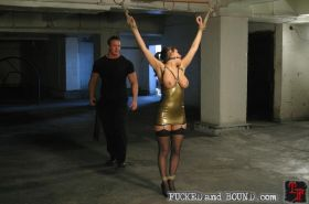Submissive slut Charley Chase gets bound and fucked in bondage by TJ Cummings