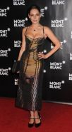 Kelly Brook showing awesome cleavage at the Global Launch of The Montblanc John