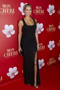 Stacy Keibler stunning in tight black dress at Mon Cherie Barbara Day charity ev