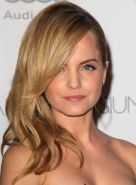 Mena Suvari wearing partially see-through strapless dress at The Art of Elysium'