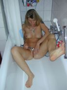 Small Tit Blonde House Wife Shaving Her Snatch In The Shower #77631691