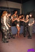 Hot blonde and brunette army lesbians dildo bondage orgy