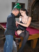 Busty pornstar Gianna Michaels fucked on pool table
