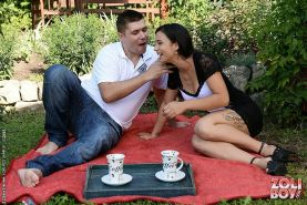 Mira Cuckold turning a lovely picnic into a dominating cuckold g