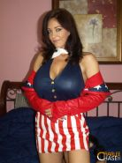CHARLEE CHASE DOES A PATRIOTIC STRIP TEASE AND SHOWS HER BIG TITS