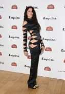 Eliza Doolittle pantyless wearing a side see through jumpsuit at the Esquire  St