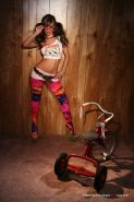 Crissy Moran Teen Playing Her Twat On A Small Bike
