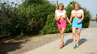 Maggie Green and milf Kelly Madison sharing cock