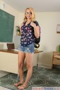 Zoe Parker bangs a hung student in the classroom