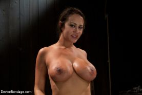 Trina Michaels big tits babe in bondage is fucked