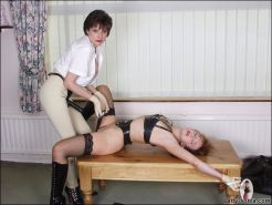 Strap on fetish mistress lezdom action with sonia